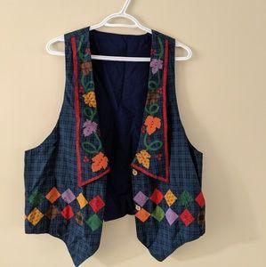 Vintage autumn seasonal vest